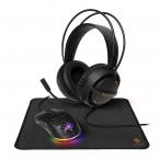 Deltaco Gaming 3-i-1 Gaming-kit, hörlurar/mus/musmatta, LED