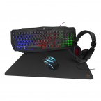 Deltaco Gaming 4-in-1 Gaming-kit, RGB-belysning, svart