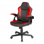 Deltaco Gaming DC120R Junior Gamingstol, konstläder, svart/röd
