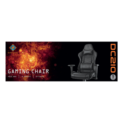 Deltaco Gaming DC210 Ergonomisk Gamingstol, konstläder, svart