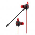 Deltaco GAMING headset, avtagbar mikrofon, silikonvingar, röd