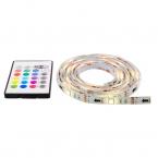 Deltaco Gaming LED-list i 12 olika färger, fjärrkontroll, 2x50cm