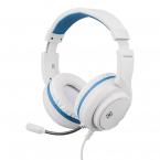Deltaco Gaming Stereo-headset till PS5, 3.5mm, 2m kabel, vit