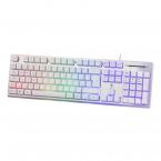 Deltaco Gaming WK75 RGB-tangentbord, 105 tangenter, vit