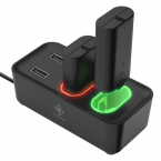 Deltaco Gaming XBOX Series S/X laddningsstation+2 batteripack