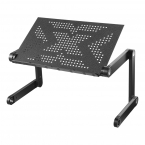 Deltaco Office Justerbart laptopbord, lutbar bordsskiva, svart