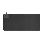 DELTACO Office, extra wide mousepad with fast wireless charger, 90x40