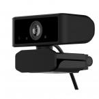 Deltaco Office Webbkamera, 2K 3.6MP CMOS, vikbart fäste