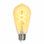 DELTACO SMART HOME Filament LED-lampa, E27, WiFi, 5.5W
