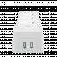 DELTACO SMART HOME grenuttag, 3xCEE 7/3, 2xUSB‑A, 1,5m, vit