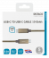 Deltaco USB‑C SuperSpeed‑kabel, 0.5m, USB3.1 Gen 2, guld