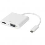 Deltaco USB-C dockningsstation, HDMI/VGA/Ljud/USB-C, PD 3.0