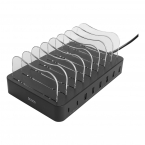 Deltaco USB-laddningsstation, 6xUSB-A, 2xUSB-C PD, 75W