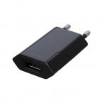 Deltaco USB väggladdare, 1x USB-A, 1A, 5W, retail, svart