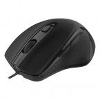 Deltaco Office Trådad tyst mus, ergonomisk, 12W