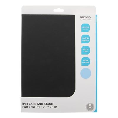 """Deltaco fodral med stödfunktion för iPad Pro 12,9"""" (2018), svart"""
