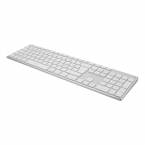 Deltaco Bluetooth-tangentbord i aluminium, Bluetooth 3.0, silver