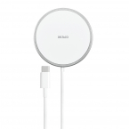 Deltaco magnetisk trådlös laddare till iPhone 12/13, 15W, vit