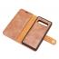 DG.MING fodral, kortplats och ställ, Samsung Galaxy S10, brun