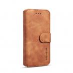 DG.MING Retro fodral med ställ, kortplats, iPhone 8/7, brun
