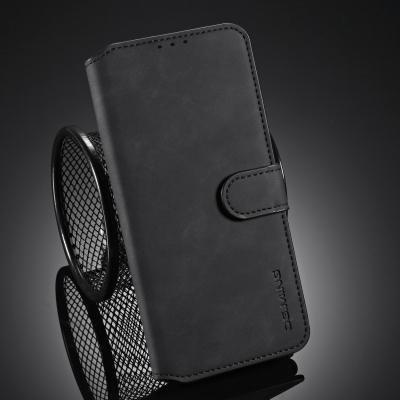 DG.MING Retro Style läderfodral, iPhone 12 Pro Max, svart