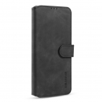 DG.MING Retro fodral med kortplats, ställ, Samsung S20, svart
