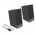Delock USB Stereo 2.0-högtalare med 3.5mm stereo-jack, 3W, 2st