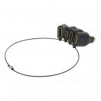 Deltaco Office, USB-C Adapter ring, mDP, DP, VGA, HDMI
