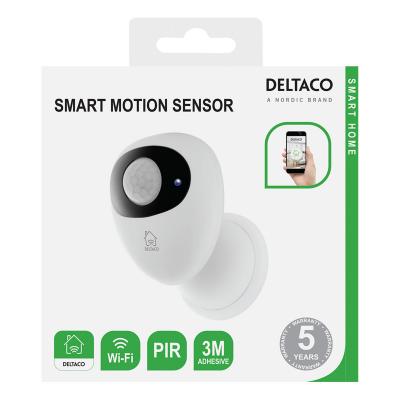 Deltaco Smart Home Rörelsesensor, PIR, WiFi, 2.4GHz, vit