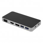 Deltaco USB-C dockningsstation, USB-C, USB-A 3.1,VGA,HDMI