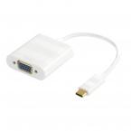 Deltaco USB-C till VGA adapter, 1080p, vit