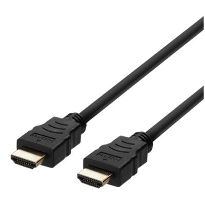 Deltaco Ultra High Speed HDMI‑kabel, 48Gbps, 8K, 1m, svart