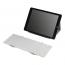 Deltaco trådlöst tangentbord, hopfällbart, Nordisk, vit