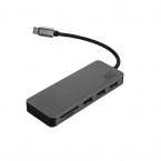 Green Cell Dockingsstation HUB USB-C 4K DEX, svart