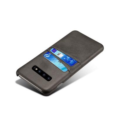 Skal med två kortplatser till Samsung Galaxy S10, svart