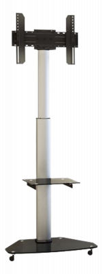 "EPZI ARM‑807, aluminium & glas TV‑vagn, 37""‑70"", 40kg, silver"