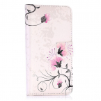 Vackert plånboksfodral med blommor, iPhone X/XS