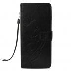Läderfodral med vristband och stöd, iPhone XS Max, svart