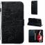 Embossment läderfodral med vristband till iPhone 11 Pro, svart
