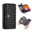 Exklusivt plånboksfodral med magnetskal, iPhone 11, svart