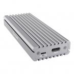 Icy Box Externt Type-C™ kabinett för M.2, NVMe SSD, silver
