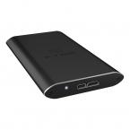 Externt Icy Box USB 3.0 kabinett för mSATA SSD, svart