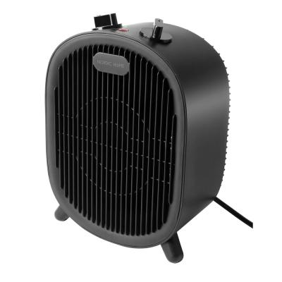Nordic Home värmefläkt med 2 lägen, 2000W, svart