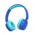 Vikbara trådlösa barnhörlurar, Bluetooth, 3.5mm, blå
