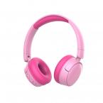 Vikbara trådlösa barnhörlurar, Bluetooth, 3.5mm, rosa