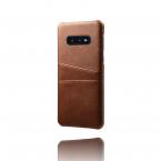 Skal med två kortplatser till Samsung Galaxy S10E, brun
