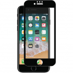 Full-Fit Skärmskydd iPhone SE2/8/7/6S, äkta glas, Panzer, svart
