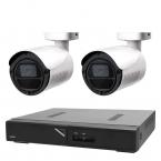 Övervakningspaket i Full HD bullet inom- och utomhus, 2 kameror