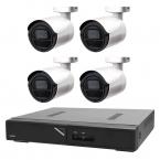 Övervakningspaket i FULL HD bullet inom- och utomhus, 4 kameror