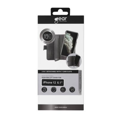 GEAR 2‑i‑1 Fodral med Magnetskal, 7 Kortfack, iPhone 12/12 Pro
